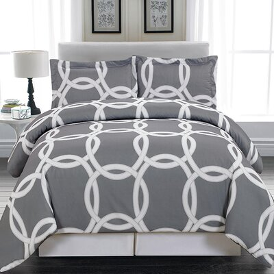 Lola 3 Piece Duvet Cover Set Size: Queen