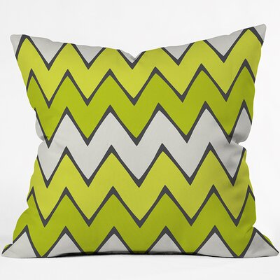 Chevron Outdoor Throw Pillow Size: 18 H x 18 W x 4 D