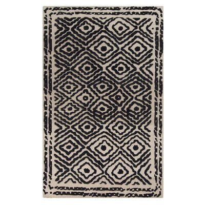 Sala Coal Black Area Rug Rug Size: Rectangle 33 x 53