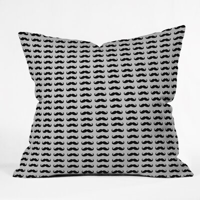 Classy Mustaches Outdoor Throw pillow Size: 16 H x 16 W