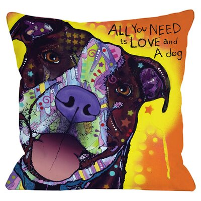 Love a Dog Throw Pillow