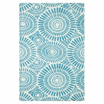Dandelion Wishes Hand-Woven Blue Area Rug Rug Size: Rectangle 5 x 7