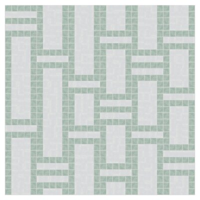 Bamboo 24 x 24 Mosaic Tile in Placid Turquoise