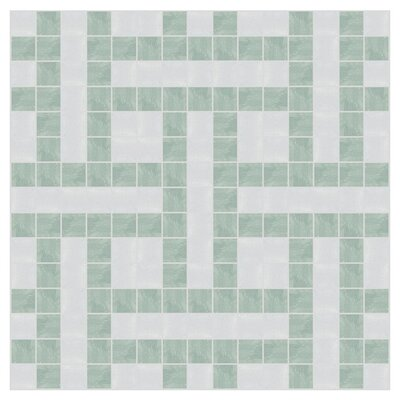 Basket 12 x 12  Mosaic Tile in Placid Turquoise