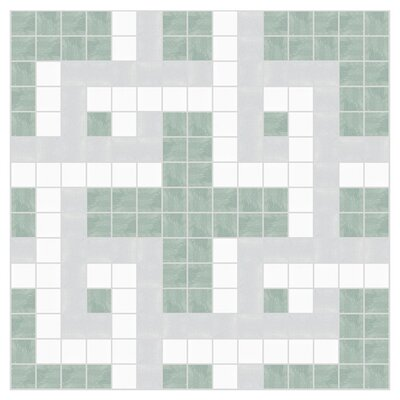 Dimensional 12 x 12 Mosaic Tile in Placid Turquoise