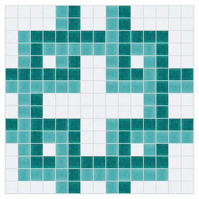 12 x 12 Dimensional Mosaic Tile in Deep Teal