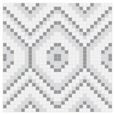 Diamond 24 x 24 Mosaic Tile in Calm Grey