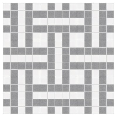 Basket 12 x 12 Mosaic Tile in Calm Grey