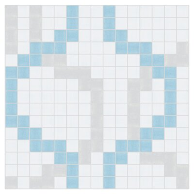 Wandering 12 x 12  Mosaic Tile in Breeze Blue