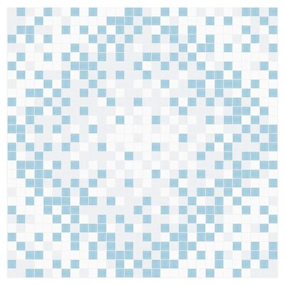 Scatter 24 x 24 Mosaic Tile in Breeze Blue