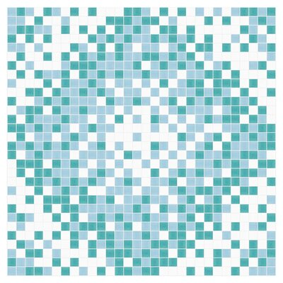 Scatter 24 x 24 Mosaic Tile in Deep Teal