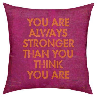 Stronger Throw Pillow