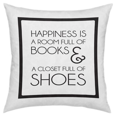 Books & Shoes Throw Pillow