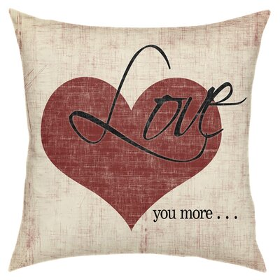 More Love Throw Pillow