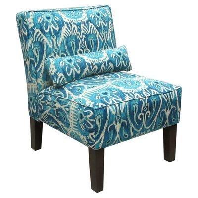 Thurston Slipper Chair Upholstery: Alessandra Teal