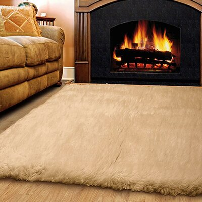 Tundra Hand-Woven Tan Area Rug Rug Size: Rectangle 5 x 8
