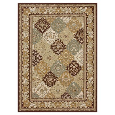 Welbourne Brown/Coffee Area Rug Rug Size: 53 x 77