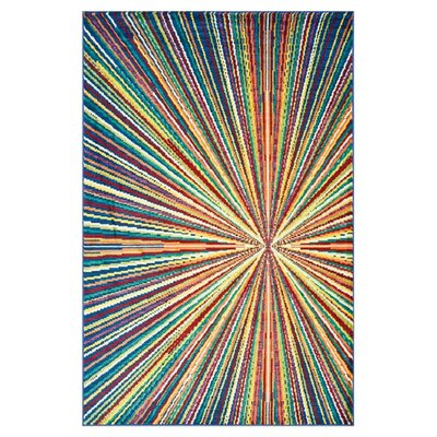 Yanga Blue/Yellow Area Rug Rug Size: Rectangle 52 x 77