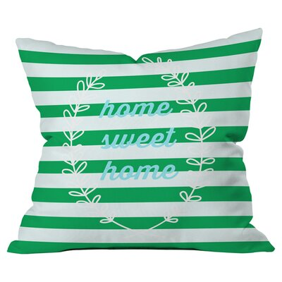 Home Sweet Home Outdoor Throw Pillow