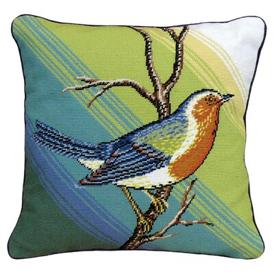 Singing Bird Wool Throw Pillow
