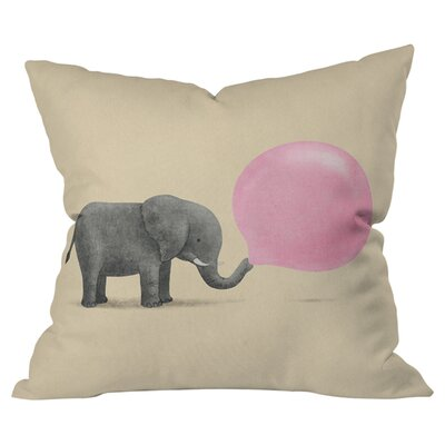 Jumbo Bubblegum Throw Pillow Size: 20 H x 20 W x 4 D