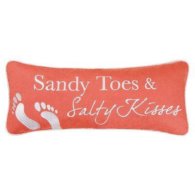 Sandy Toes 100% Cotton Lumbar Pillow