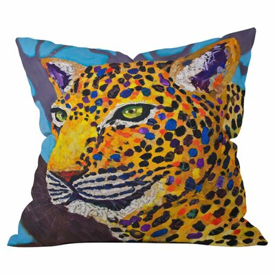 Jaclyn Jaguar Outdoor Throw Pillow