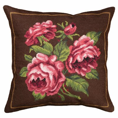 Rosette Wool Throw Pillow