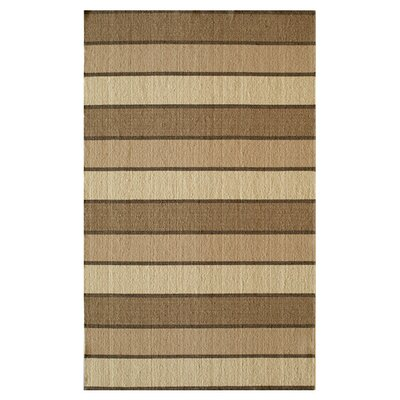 Trimble Hand-Woven Beige/Brown Area Rug Size: Rectangle 36 x 56