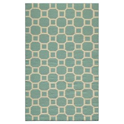 Aliz Hand-Woven Aqua Area Rug Size: Rectangle 5 x 8