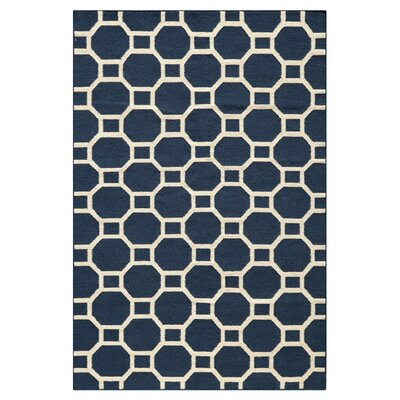 Aliz Hand-Woven Navy Area Rug Size: Rectangle 5 x 8