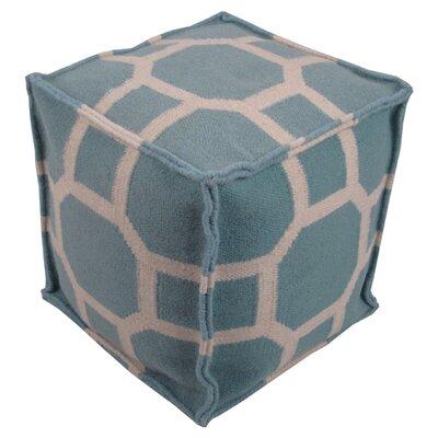 Milada Pouf Ottoman Upholstery: Aqua