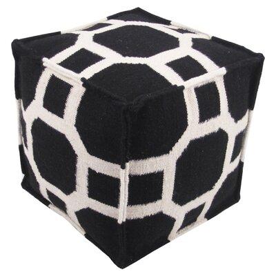 Milada Pouf Ottoman Upholstery: Black