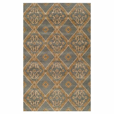 Brigitta Hand-Tufted Brown/Blue Area Rug Size: 5 x 8