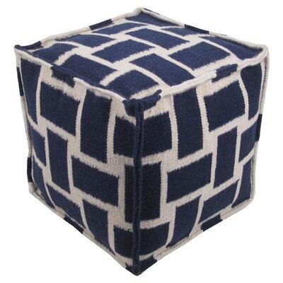 Celina Pouf Ottoman Upholstery: Navy