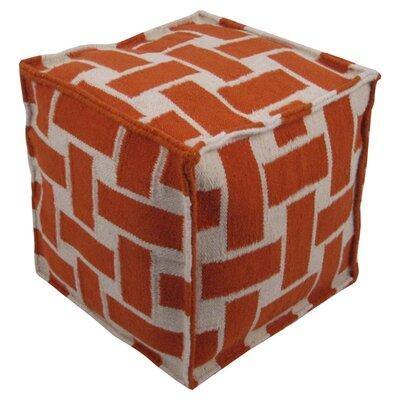 Celina Pouf Ottoman Upholstery: Orange
