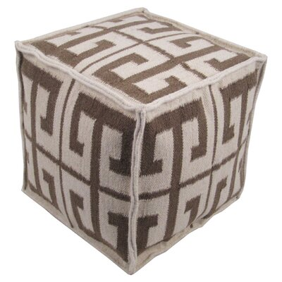 Aretha Pouf Ottoman Upholstery: Taupe