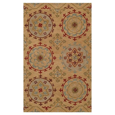 Naiya Hand-Tufted Gold Area Rug Size: 5 x 8
