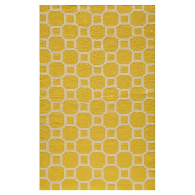 Karina Hand-Woven Lemon Area Rug Size: 5 x 8
