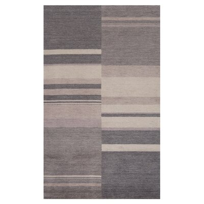 Mangum Hand-Loomed Charcoal Area Rug Size: Rectangle 36 x 56