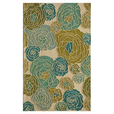 Lenai Hand-Tufted Blue Dahlia Area Rug Size: 26 x 36