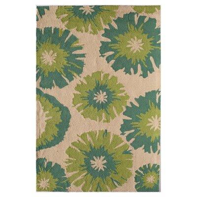 Maui Hand-Tufted Mint Lotus Area Rug Size: 76 x 76