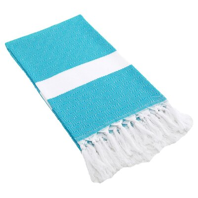 Diamond Fouta Towel in Turquoise