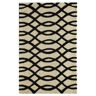 Waverley Hand-Tufted Black Area Rug Size: Runner 23 x 76