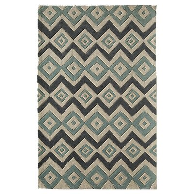 Gramercy Hand-Tufted Green Area Rug Size: 76 x 96