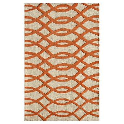 Waverley Hand-Tufted Orange Area Rug Size: 16 x 23
