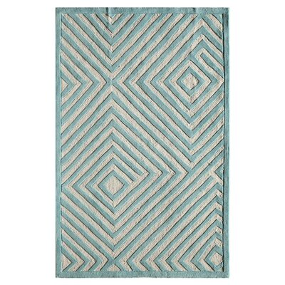 Sadie Hand-Tufted Light Blue Area Rug Size: 16 x 23