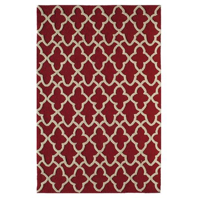 Farrah Hand-Tufted Red Area Rug Size: 26 x 36