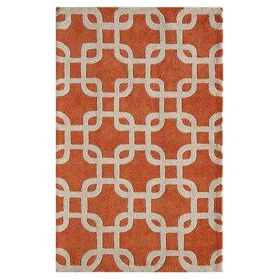 Trenton Hand-Tufted Tangerine Area Rug Size: Runner 23 x 76