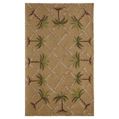 Palma Hand-Tufted Tan Area Rug Size: 76 x 76